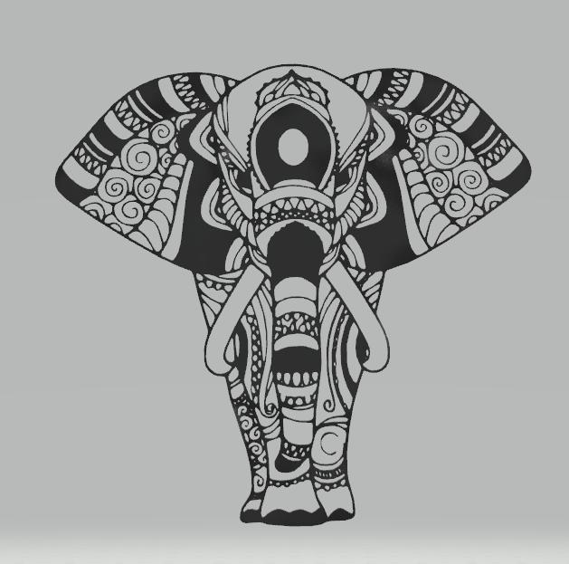 Download Stl File Wall Decor Elephant 3d Print Template Cults