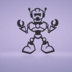 c1.png Download STL file wall decor robot • 3D printer template, satis3d