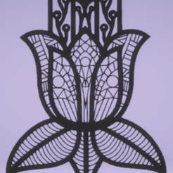 Télécharger fichier impression 3D décoration murale hamsa, satis3d