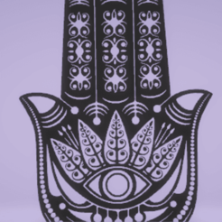 Download STL files wall decor hamsa, satis3d