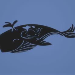 c1.png Télécharger fichier STL décoration murale baleine et bébé • Plan imprimable en 3D, satis3d