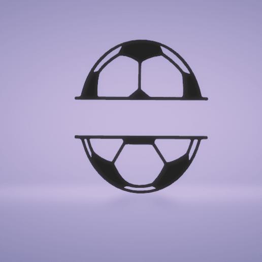 c1.png Download STL file wall decor soccer ball divide • Model to 3D print, satis3d