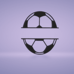 c1.png Download STL file wall decor soccer ball divide • Model to 3D print, satis3d