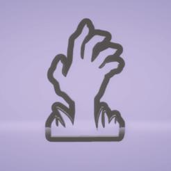 c1.png Download STL file cookie cutter halloween hand • 3D printable model, satis3d