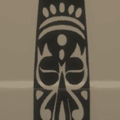 Télécharger STL décoration murale masque africain, satis3d