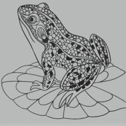 c1.png Download STL file wall decor frog • 3D printer template, satis3d