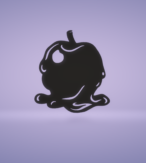 c1.png Download free STL file wall decor poison apple • 3D printing design, satis3d