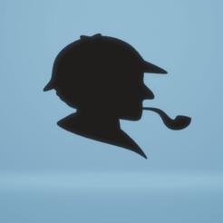 Download STL file wall decor detective silhouette • Model to 3D print, satis3d