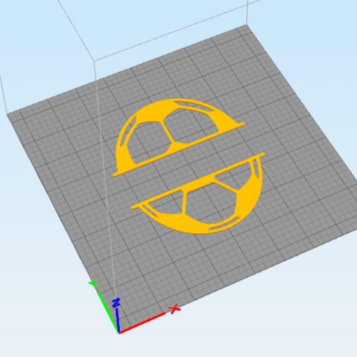 c2.png Download STL file wall decor soccer ball divide • Model to 3D print, satis3d