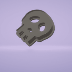 c1.png Download STL file cookie cutter stamp skull • 3D printing object, satis3d