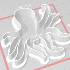 Descargar archivos STL pulpo cortador de galletas, maryhynes16