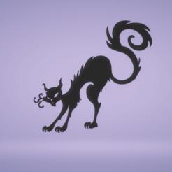 c1.png Télécharger fichier STL décoration murale chat noir • Objet pour imprimante 3D, satis3d