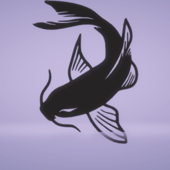 c1.png Download STL file wall decor koi fish • 3D printing model, satis3d