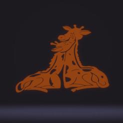 c1.png Télécharger fichier STL décoration murale mère girafe • Modèle imprimable en 3D, satis3d