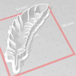 C1.png Download STL file cookie cutter feather • 3D printer object, satis3d