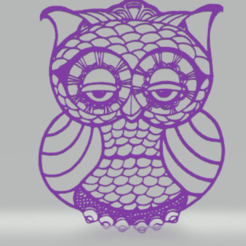 c1.png Download STL file wall decor owl • Object to 3D print, satis3d