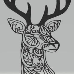 Télécharger objet 3D décoration murale cerf, satis3d