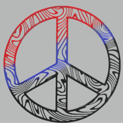 c1.png Download STL file wall decor peace symbol • 3D print design, satis3d