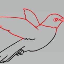 Télécharger fichier 3D colibri de décoration murale, satis3d