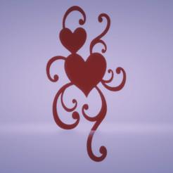 c1.png Download STL file wall decor hearts • 3D printable design, satis3d