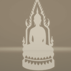 c1.png Download STL file wall decor buddha • 3D printing object, satis3d