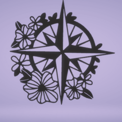 c1.png Download STL file wall decor compass • Object to 3D print, satis3d