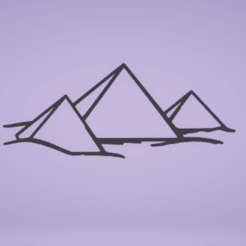 c1.png Download STL file wall decor egipt pyramids • 3D printable model, satis3d