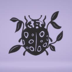 c1.png Download STL file wall decor ladybug • 3D print design, satis3d