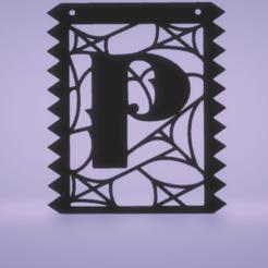 C1.png Download STL file banners- full alphabet set, full numbers set halloween • 3D printable design, satis3d