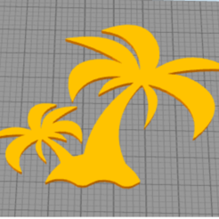 Download free 3D printing templates wall decor palm trees, satis3d