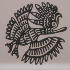 Télécharger STL décoration murale inca oiseau, satis3d