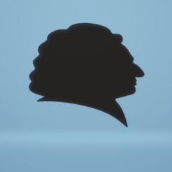 c1.png Télécharger fichier STL décoration murale Silhouette de Bach • Modèle imprimable en 3D, satis3d