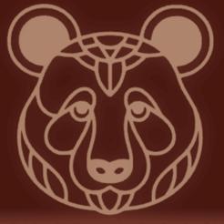 c1.png Download STL file wall decor bear face • 3D printing model, satis3d