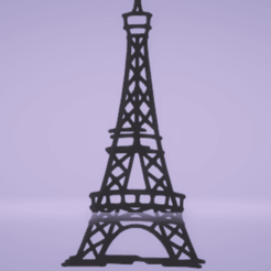 c1.png Download STL file wall decor eiffel tower • 3D printable template, satis3d