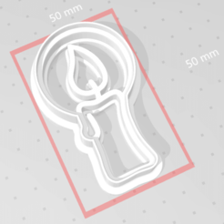 c1.png Download STL file cookie cutter stamp Christmas candle • 3D printer template, satis3d