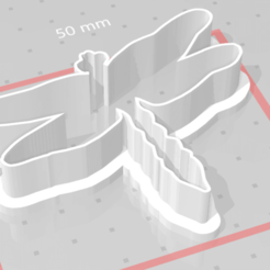 d1.png Download STL file cookie cutter dragonfly • 3D printing design, satis3d