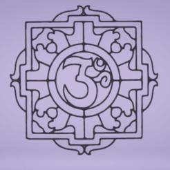 c1.png Télécharger fichier STL décor mural mandala om • Objet à imprimer en 3D, satis3d
