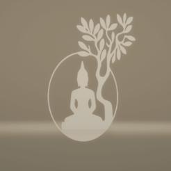 c1.png Télécharger fichier STL décoration murale arbre de bouddha • Modèle pour imprimante 3D, satis3d
