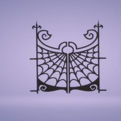 Download STL file wall decor spider gate • 3D printing object, satis3d