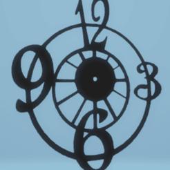 Download STL file wall decor clock, satis3d