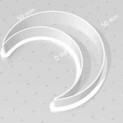 Download 3D printing templates cookie cutter moon, satis3d