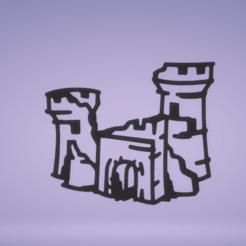 c1.png Télécharger fichier STL décoration murale ruine château • Design à imprimer en 3D, satis3d