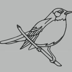 Télécharger modèle 3D gratuit décoration murale oiseau, satis3d