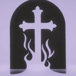 Télécharger modèle 3D pierre tombale à décor mural, satis3d