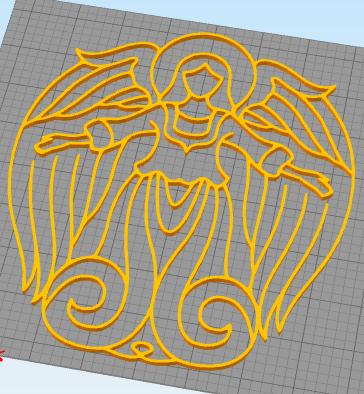 angelc.png Télécharger fichier STL gratuit ange de la décoration murale • Design imprimable en 3D, satis3d