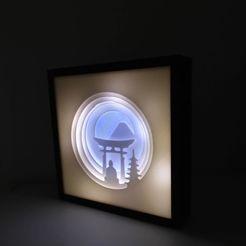c1.jpg Download STL file shadow light box- buddha • 3D printable design, satis3d