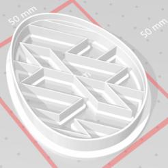 Download 3D printing designs cookie cutter stamp easter egg, satis3d