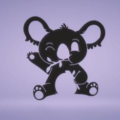 c1.png Télécharger fichier STL décoration murale koala mignon • Design pour imprimante 3D, satis3d