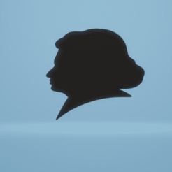 Download STL file wall decor Beethoven silhouette • 3D print object, satis3d
