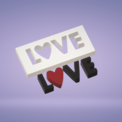 C1.png Download STL file Decoration Love puzzle block • Object to 3D print, satis3d